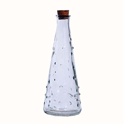 Kungfu Alien DIY Crystal Wishing Bottles Origami Star Glass Jar Gift Bottle Set of 2