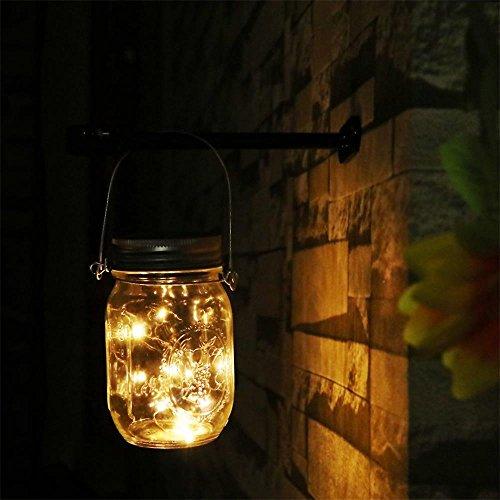 Solar Mason Jar lights Solar Energy LED Fairy Mason Jar Lantern Firefly Light for Home Garden Yard Wedding Party Gift Mason Jars Included 10 LEDs 1 Warm White