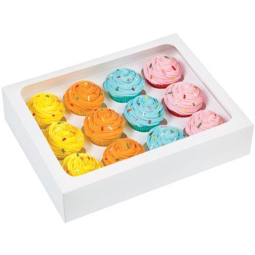 Wilton 415-1696 12-Cavity Cupcake Box Mini White
