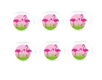 12ct Pink Flamingos Edible 3inch Large CupcakeCookie Image Kit
