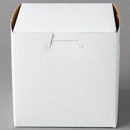Black Cat Avenue Single Cupcake Bakery Box 4 x 4 x 4 20-Pack White