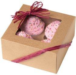 Bulk Buy Wilton 3-Pack Cupcake Boxes 4 Cavity Kraft 3Pkg W4150953
