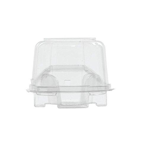 Small Round Hinged Individual Cupcake Boxes 4Dia x 2 12H