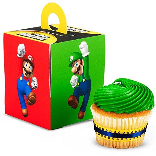 Super Mario Bros Party Supplies - Cupcake Boxes 4