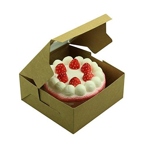Yamu 25Pcs Brown Bakery Box With Window Cupcake Boxes 4x4x25
