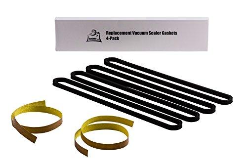 Repair Kit for FoodSaver UpperLower Gasket Heat Strip Replacement - 4 Foam Gaskets 2 Strips Fits V2200 V2400 V2800 V3000 V3200 Series Vacuum Sealers Replaces Food Saver T910-00075 by OutOfAir