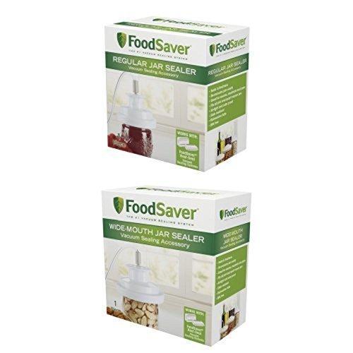 FoodSaver Jar Sealer Vacuum Container Storage Seal Regular Wide-Mouth Bundle by Vacuum Sealers