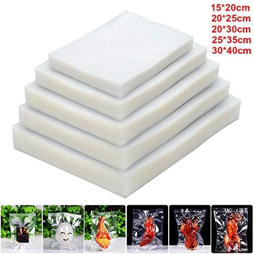 100 x Food Saver Bags Vacuum Sealer Bags BPA Free Freezer Vacuum Bags for Sous Vide Cooker and Vaccum Food Sealer Machines