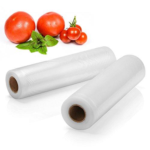 2 Pack Food Sealers Bags - Fivanus 8 x 15 Commercial Vacuum Sealer Rolls Food Storage Saver Compatible to Foodsaver Sous Vide total 30 feet