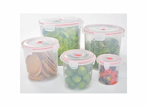 Lasting Freshness 11pc Round Vacuum Seal Food Storage Container Set