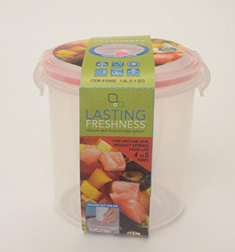 Lasting Freshness Vacuum Seal Food Storage 10L 11 Qt Round