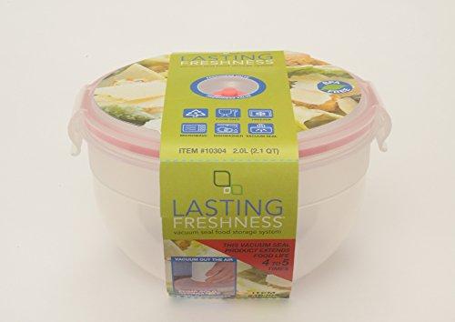 Lasting Freshness Vacuum Seal Food Storage 20L 21 Qt Bowl