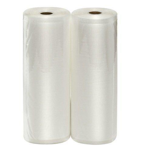 """Vacuum Sealer Bag2-Pack WISH 11""""X50' Heavy Duty Embossed Food Storage Saver Bag Rolls100 Feet Total"""