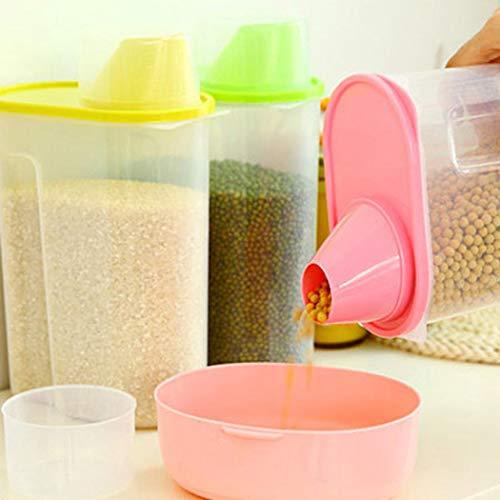 DREZZED Transparent Plastic Sealed Fresh-Keeping Food Storage Container Storage Jar Food Storage Organization Sets