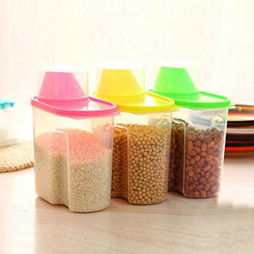 Molevet Transparent Plastic Sealed Fresh-keeping Food Storage Container Storage Jar Food Storage Organization Sets