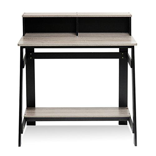 Furinno Simplistic A Frame Computer Desk BlackFrench Oak Grey