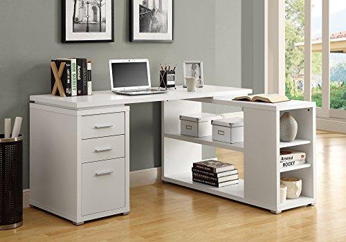 Monarch Specialties Hollow-Core Left or Right Facing Corner Desk White