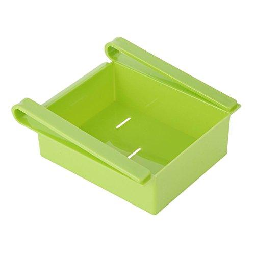 QIANDUOO Slide Fridge Storage Rake Freezer Food Storage Boxes Pantry Storage Organizer