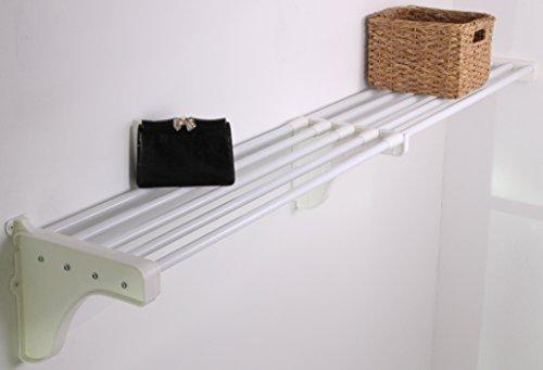 EZ Shelf - 40 - 74 Expandable Shelf - White - 1 Bracket
