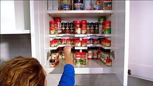 USA Warehouse Kitchen RV Shelf 64 Spice Jar Rack Stackable Organizer Storage Cabinet Cupboard -PT HF983-1754371027