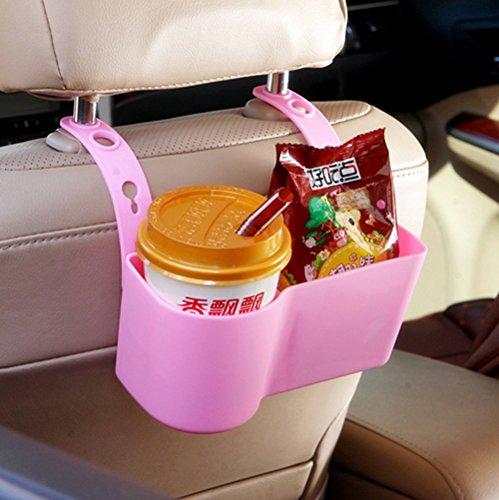Car storage box holder creative water holder and waste bin hang at back of seat storage baskets multi-function space organizer