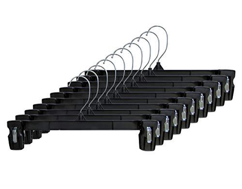 Hanger Central Heavy-Duty Black Plastic Closet Department Store Pants Hangers 8 Inch 200 Pack