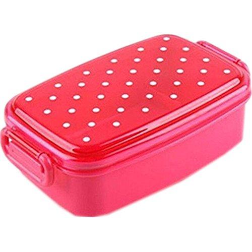 Japanese Bento Lunchbox Polka Dot with Dividercolor May Vary