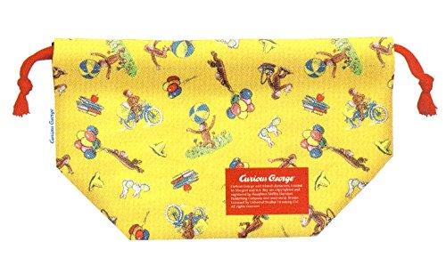 Curious George Design Bento Box Lunch Bag Size W105 x H625 x D475