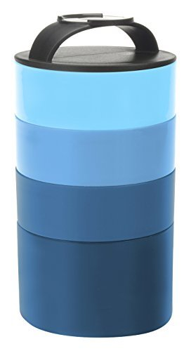 Smart Planet Smart Planet Portion Perfect Stackable Bento Meal Tower Blue  Blue by Smart Planet