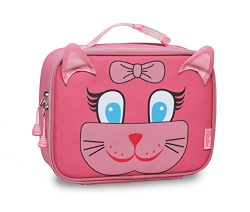 Bixbee Kids Lunch Box Kitty Pink Insulated School Lunchbox for Children
