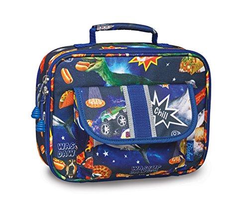 Bixbee Kids Lunch Box Meme Blue Space Odyssey School Lunchbox for Children