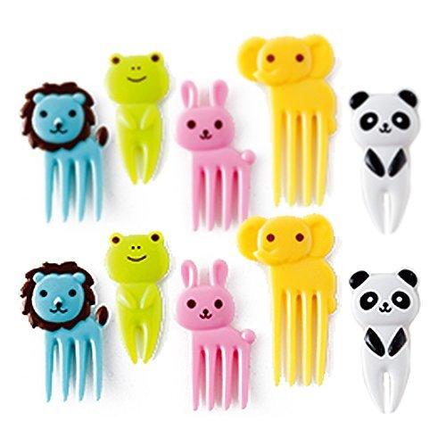 Bento Decoration Box Food Picks and Forks--Cute Animal Shaped10Pcs