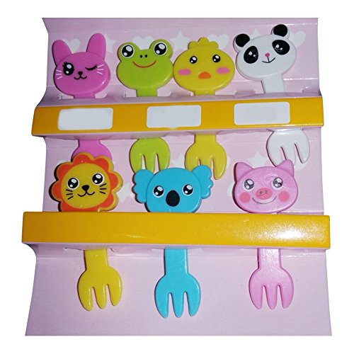 Food Picks For Cute Bento Box Decoration - Animal Shaped 7Pcs