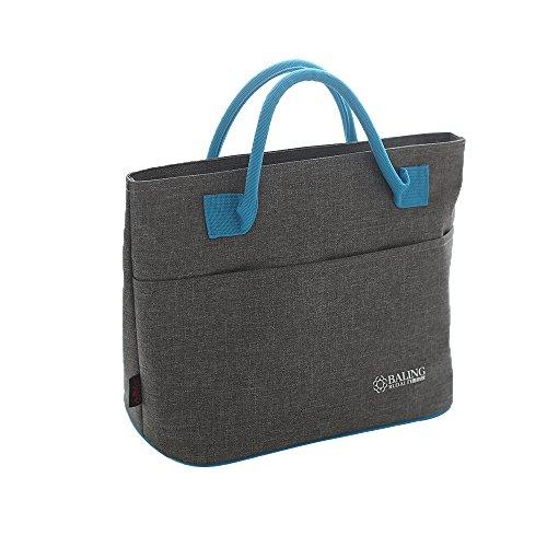 Tote Bag Reusable Zip Closure Handbag Back Pocket Insulated Bag Cooler Bag