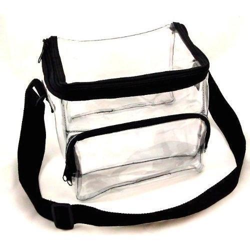 Clear Lunch Bag Black Trim - Medium New