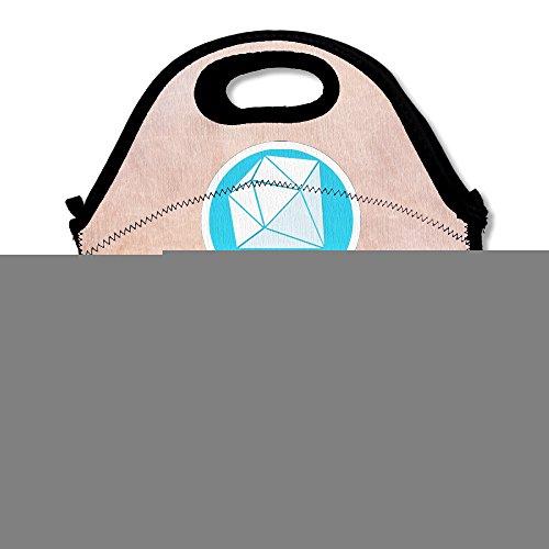 Reusable Art DanTDM The Diamond Minecart Crossbody Clear Lunch Bags