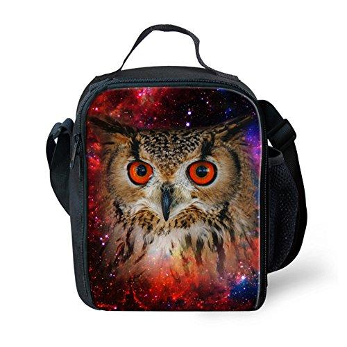 Showudesigns Pretty Zoo Owl Lunch Bag in School Keep Warm Children Lunch Box Purple