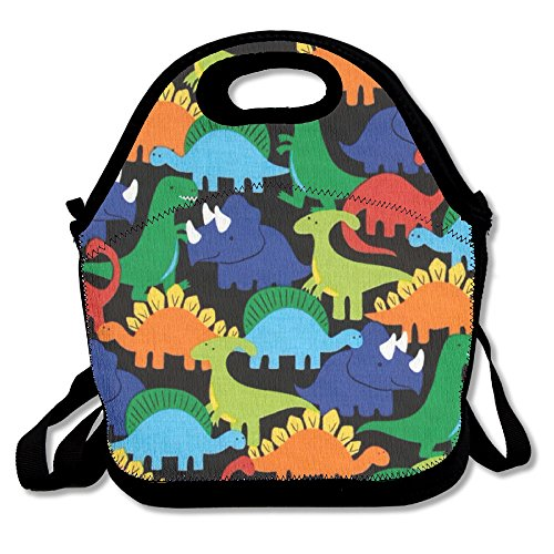 ZDTSQWY Lunch Boxes Cartoon Dinosaur Lunchbox Food Container Lunch Tote Handbag Cool Fashion Designer Lunch Box For Work Office School