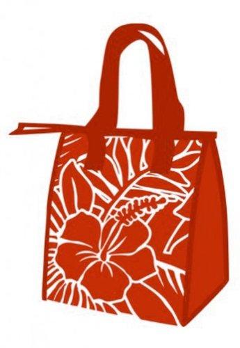 Hawaiian Small Insulated Lunch Bag Hibiscus Blueprint