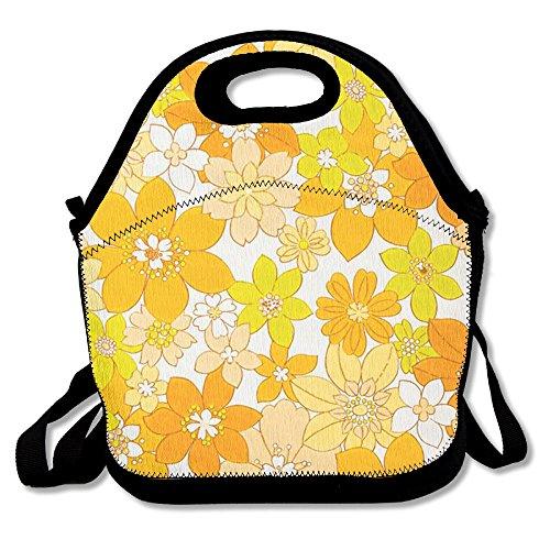 Pretty Little Yellow Flower Custom Lunch Bag Picnic Bag Backpack Bag