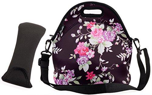 Shubb Neoprene Insulated Lunch Tote Bag Cooler Box Baby bag Box Handbag Purple
