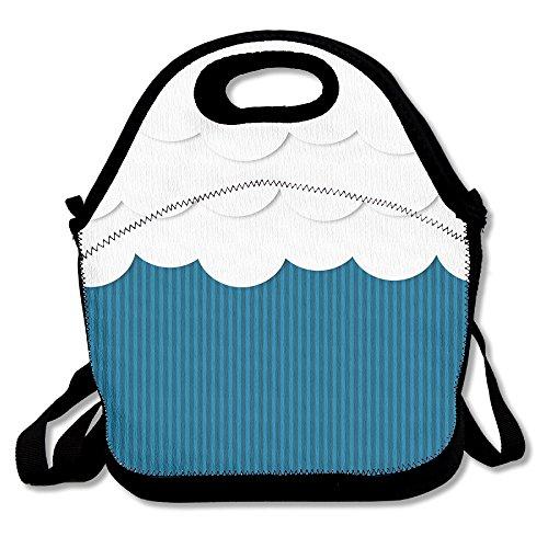 Colorful Waves Popular Lunch Bag Picnic Bag Backpack Bag Shoulder Bag Handbag