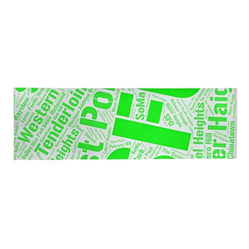 ArtVerse Rand Cites San Francisco California Districts Word Art-Green Lunch Bag
