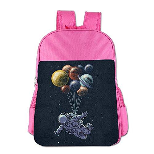 Forsaken Warrior Astronaut Ballboon School Backpack Children Shoulder Daypack Kid Lunch Tote Bags Pink