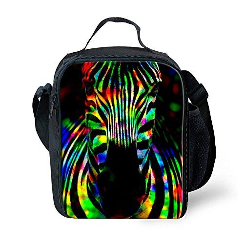 Showudesigns Fashionable Print Animal Zebra Lunch Bags Girls Food Storage Bags