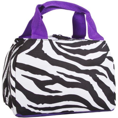 Zebra Lunch Bag Insulated - Purple Trim