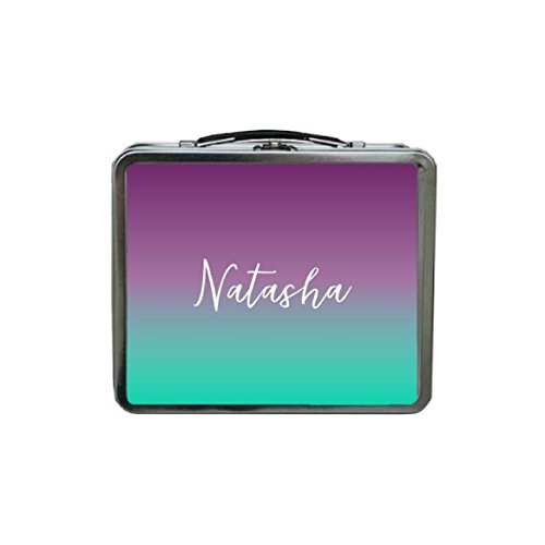 Custom Lunch Box Ombre Lunch Box Purple Lunch Box Mint Lunch Box Monogram Lunch Box METAL Lunch Box