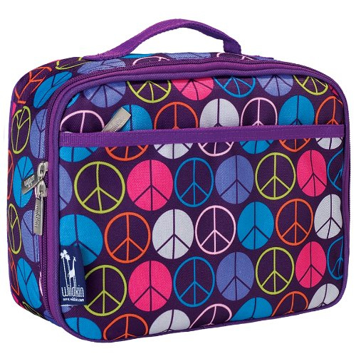 Peace Signs Purple Lunch Box