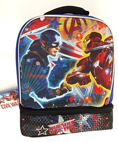 Marvel Captain America vs Iron Man Civil War Dual Compartment Lunch Bag Kit
