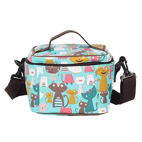 Picnic Bag Tote Bag Cooler Bag Storage Bag Portable Insulation Bag Lunch Bag Gripesack with Zipper for Lunch-box Shopping Bag Reusable Square
